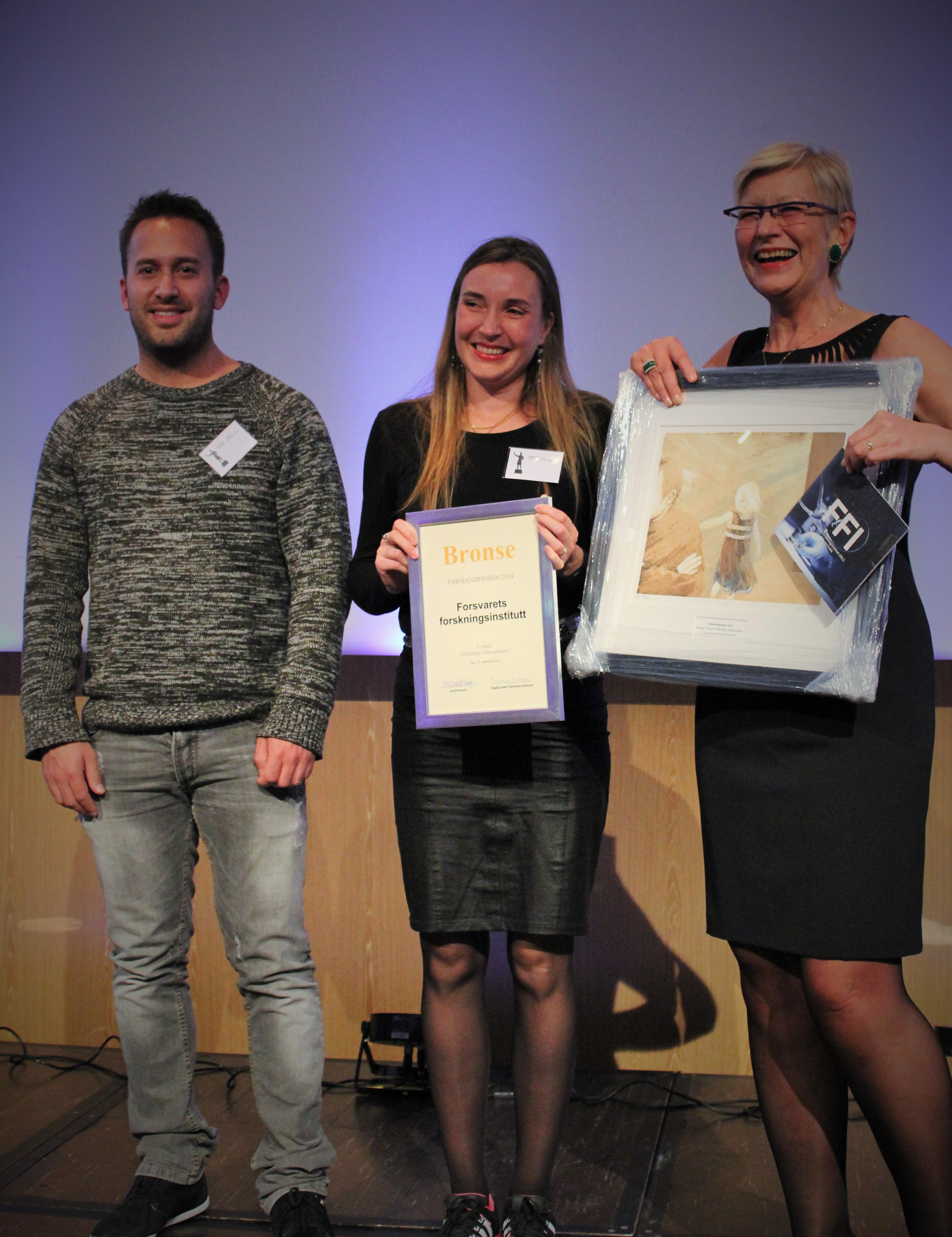 Farmandprisen Beste Årsrapport 2014 - Offentlige virksomheter nr 3: Forsvarets forskninginstitutt