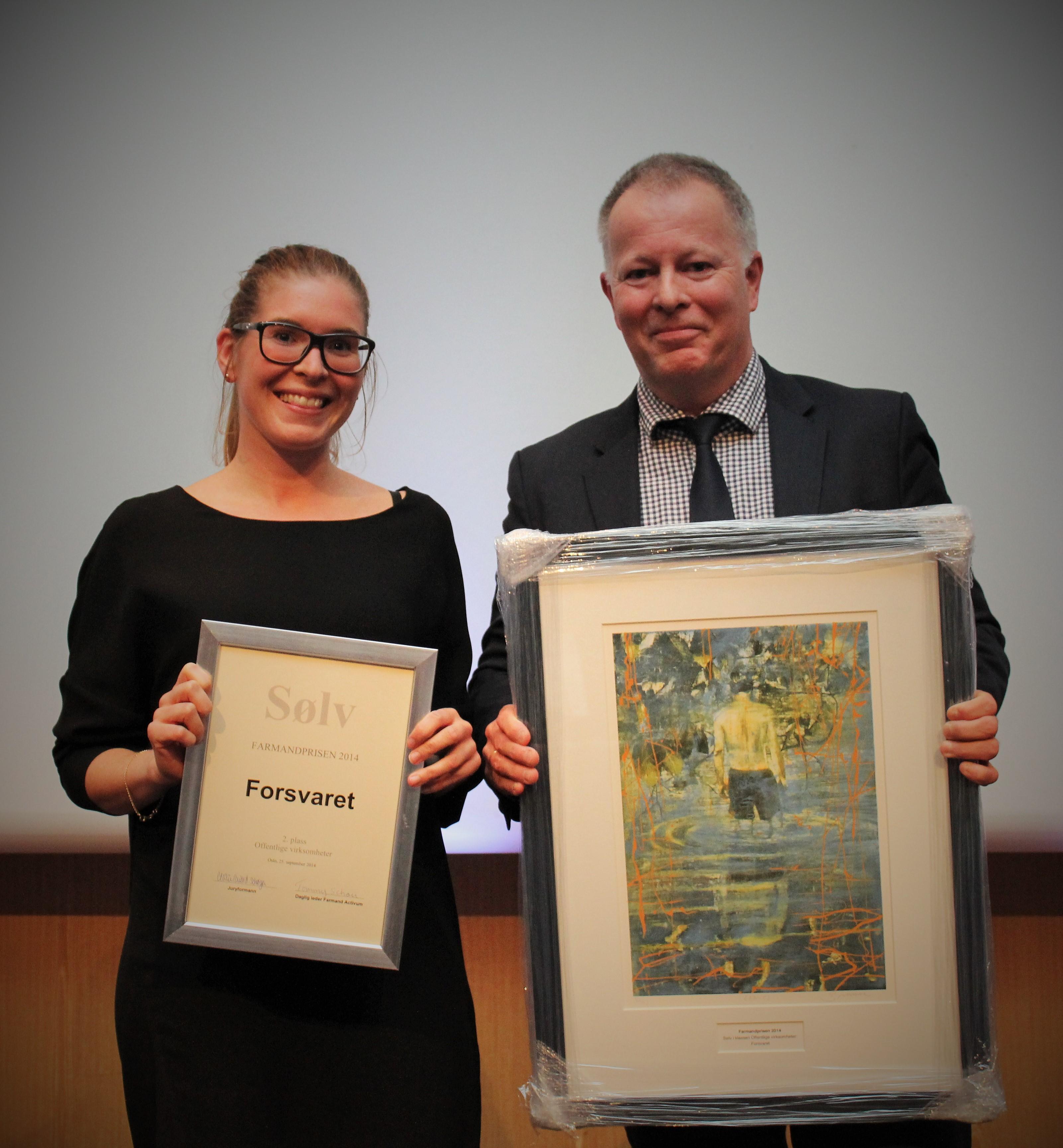 Farmandprisen Beste Årsrapport 2014 - Offentlige virksomheter nr 2: Forsvaret