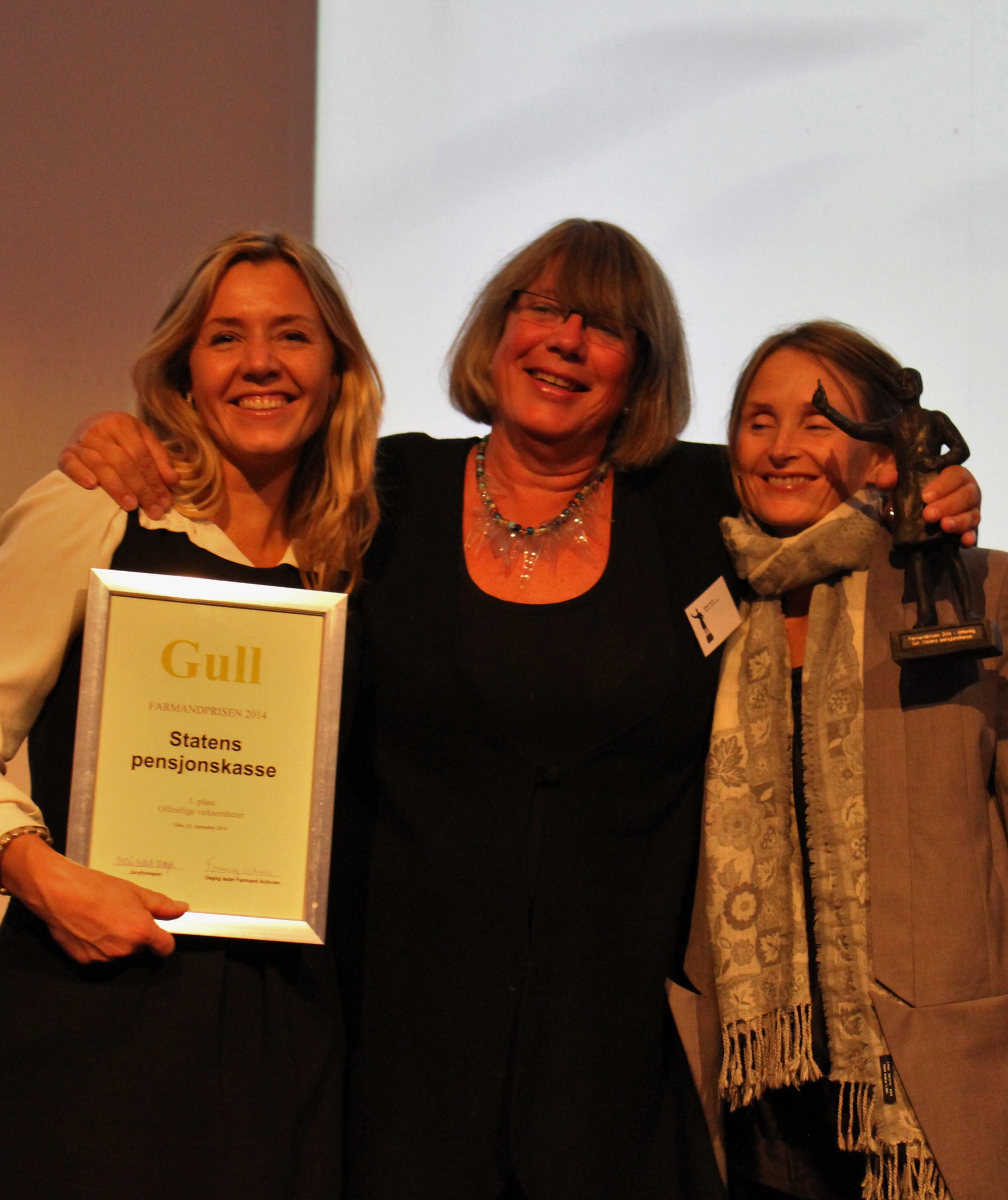 Farmandprisen Beste Årsrapport 2014 - Offentlige virksomheter nr 1: Statens pensjonskasse
