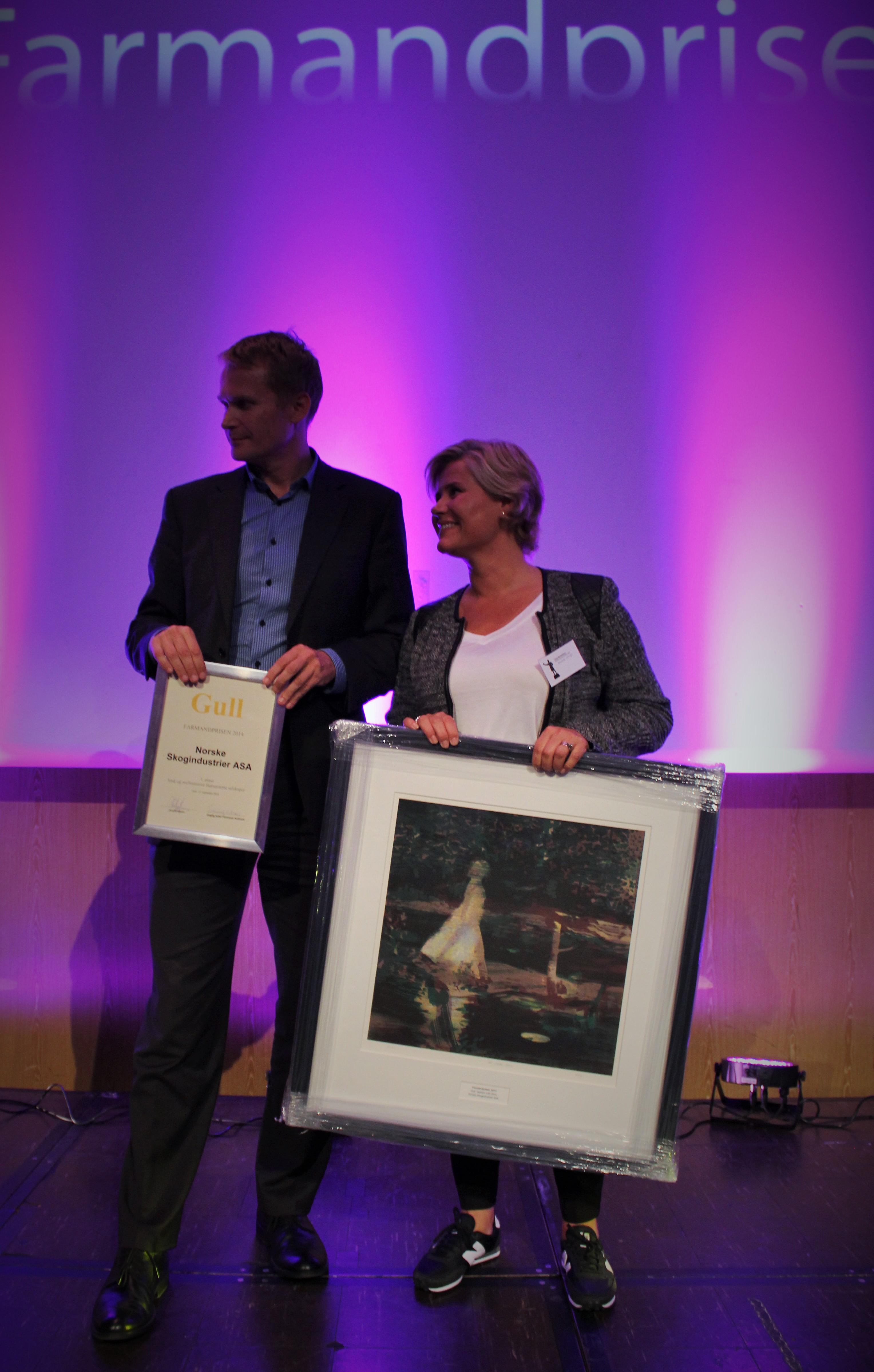 Farmandprisen Beste Årsrapport 2014 - Små og mellomstore børsnoterte selskaper nr 1: Norske Skogindustrier ASA