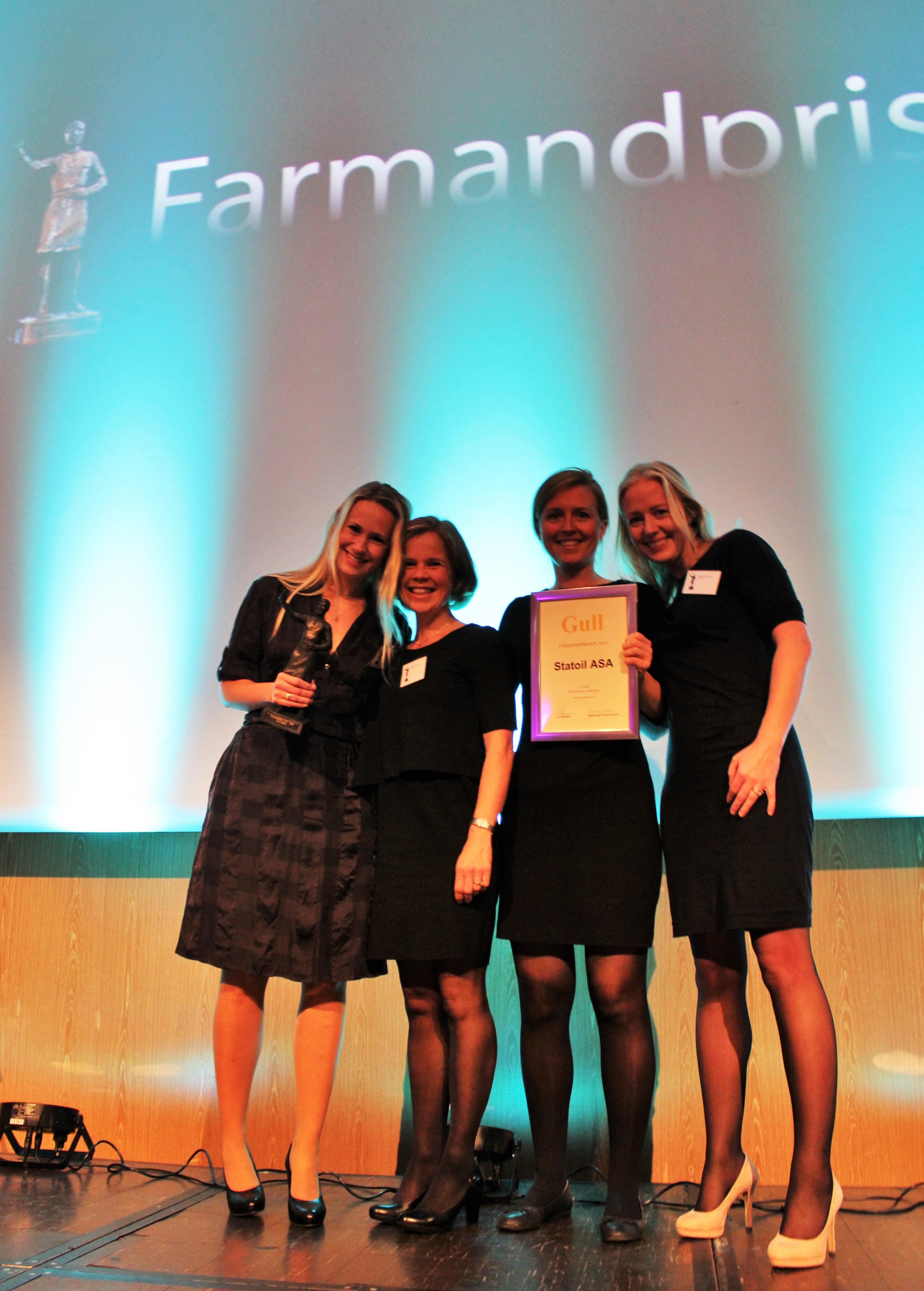Farmandprisen Beste Årsrapport 2014 - Børsnoterte selskaper nr 1: Statoil ASA