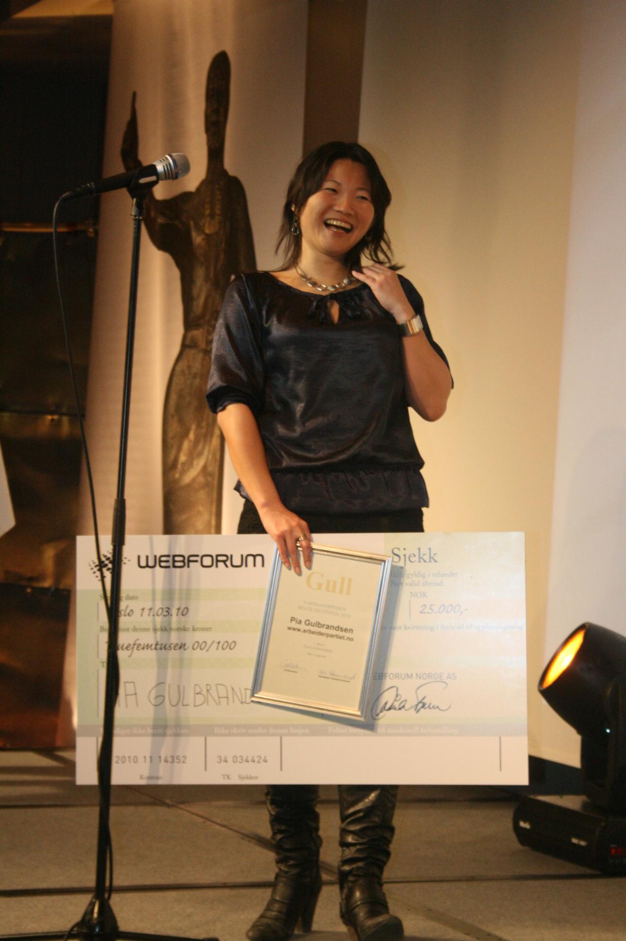 Årets webredaktør - Pia Gulbrandsen, Arbeiderpartiet