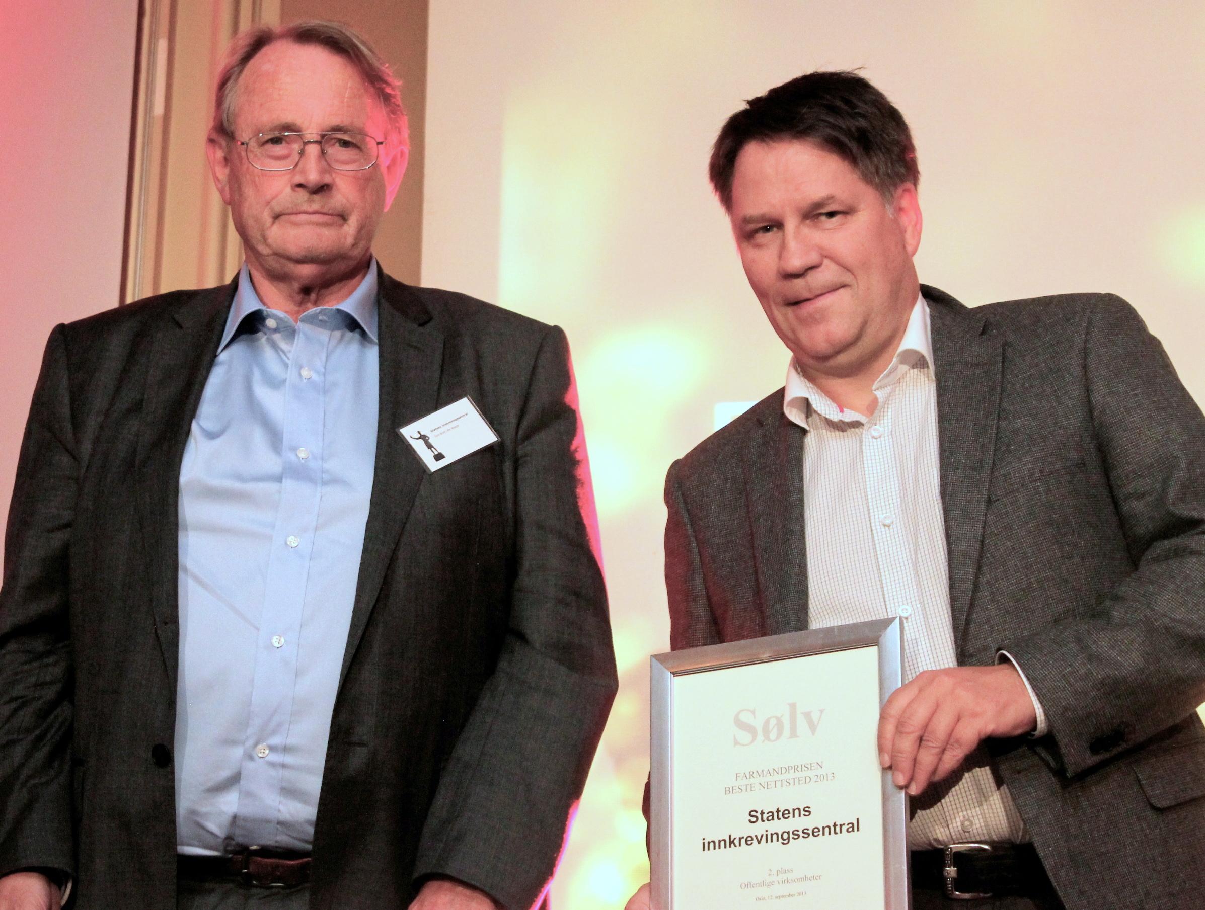 Farmandprisen Beste nettted 2013 - Offentlige virksomheter nr 2: Statens innkrevingssentral