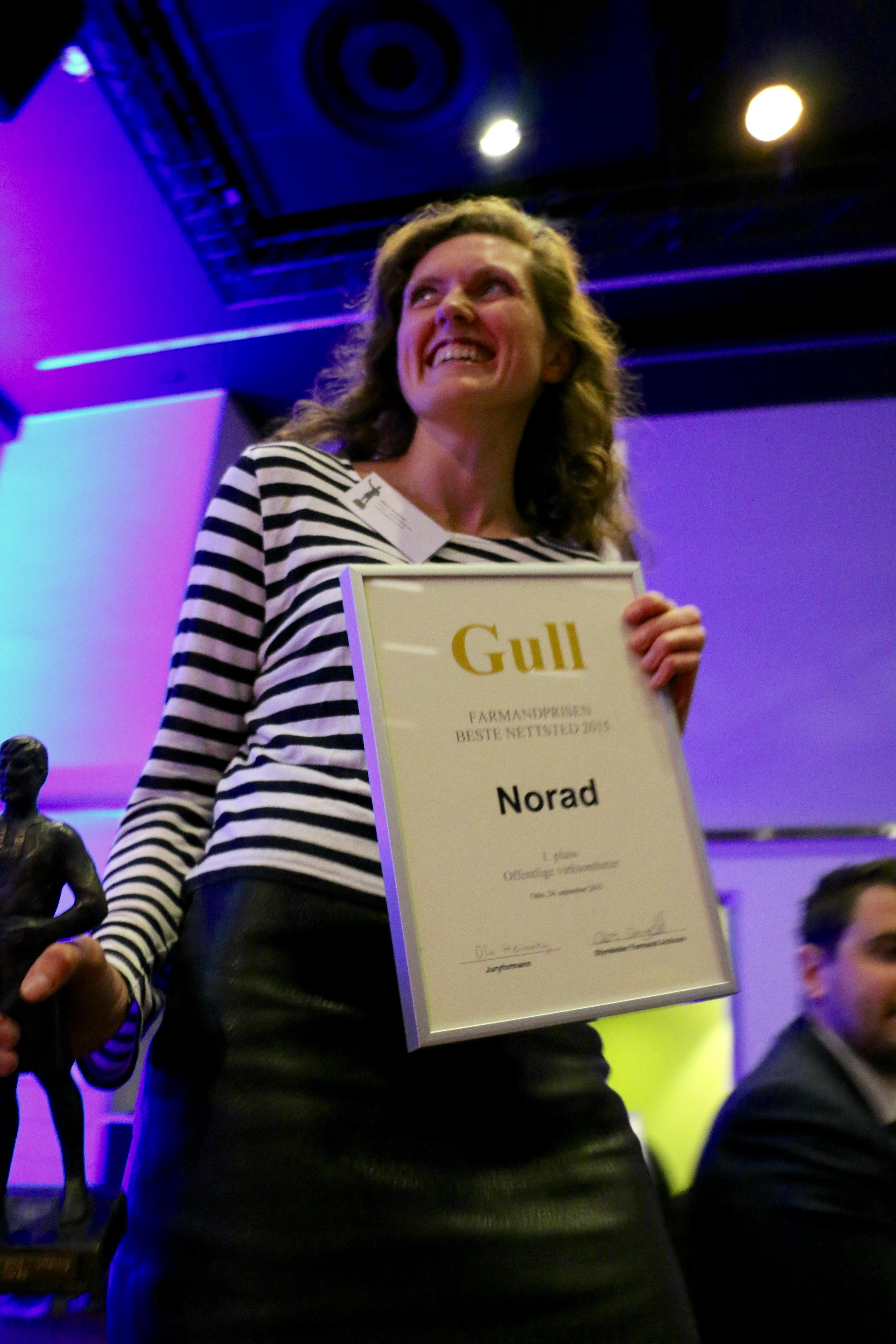 Farmandprisen Beste nettted 2015 - Offentlige virksomheter nr. 1: Norad (norad.no)
