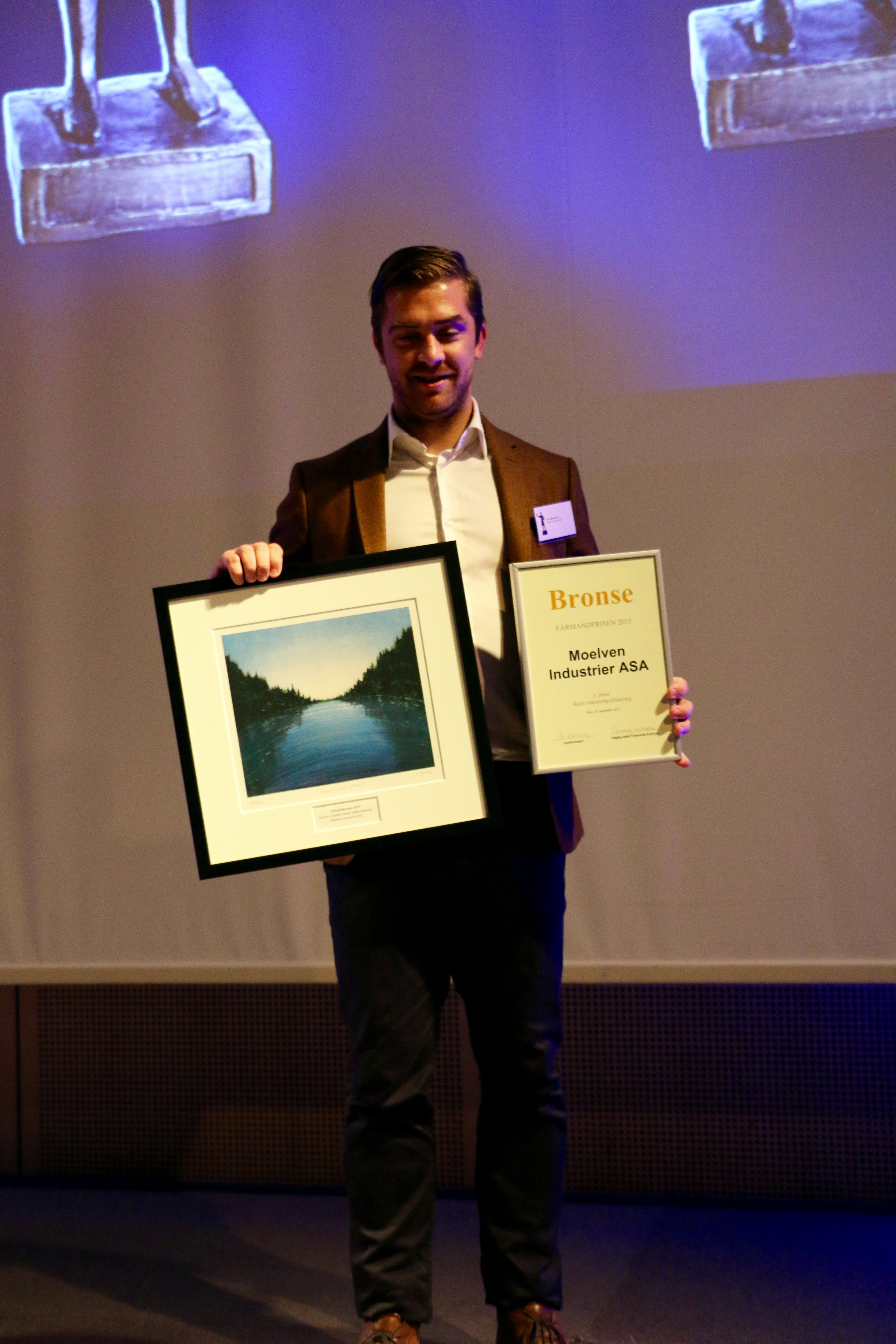 Farmandprisen Beste Årsrapport 2015 - Beste internettpublisering nr 3: Moelven Industrier
