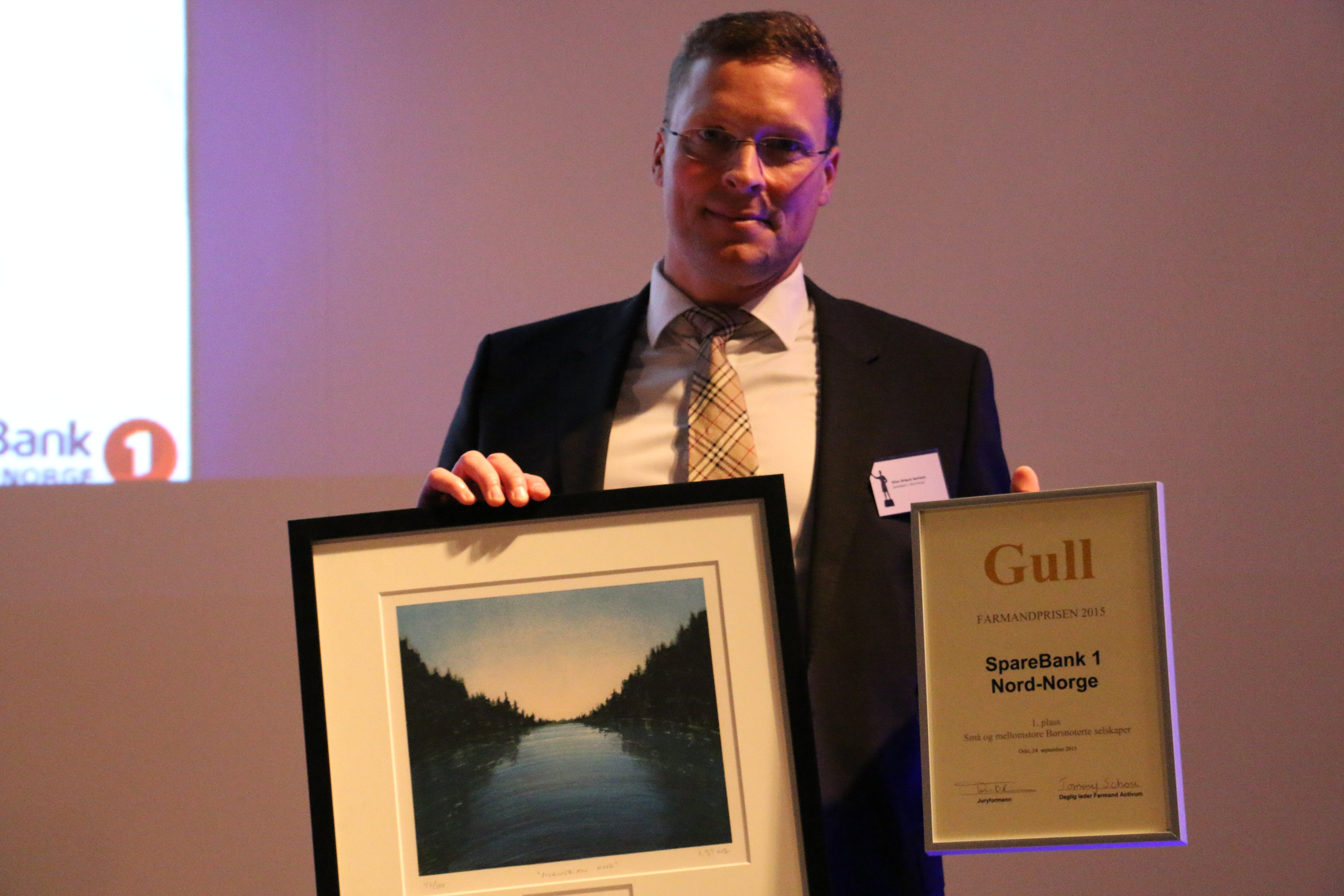 Farmandprisen Beste Årsrapport 2015 - Små og mellomstore børsnoterte selskaper nr 1: SpareBank 1 Nord-Norge