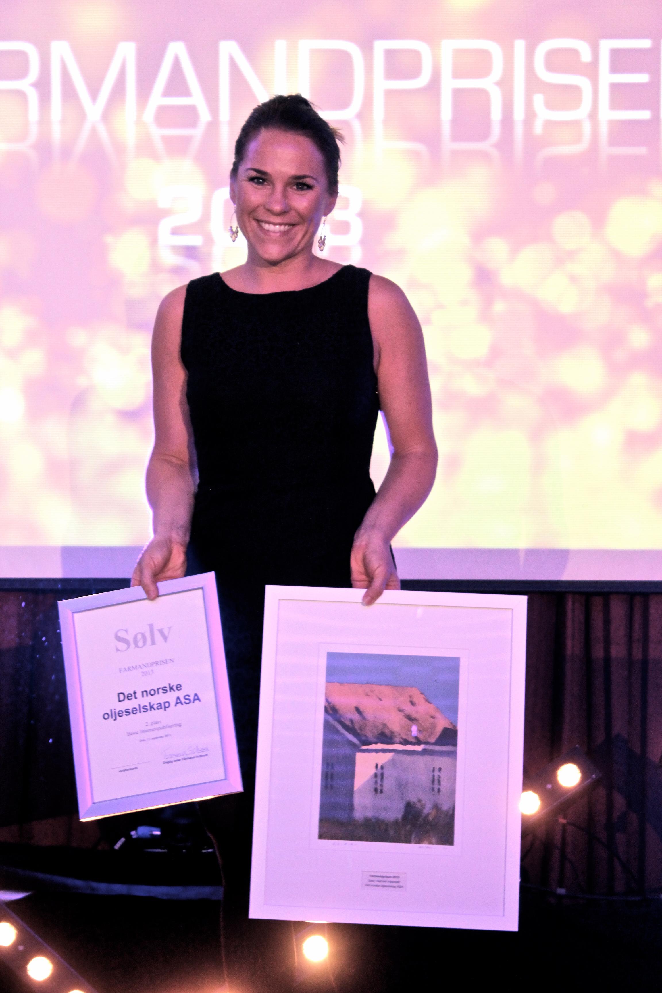 Farmandprisen Beste Årsrapport 2013 - Beste internettpublisering nr 2: Det norske oljeselskap