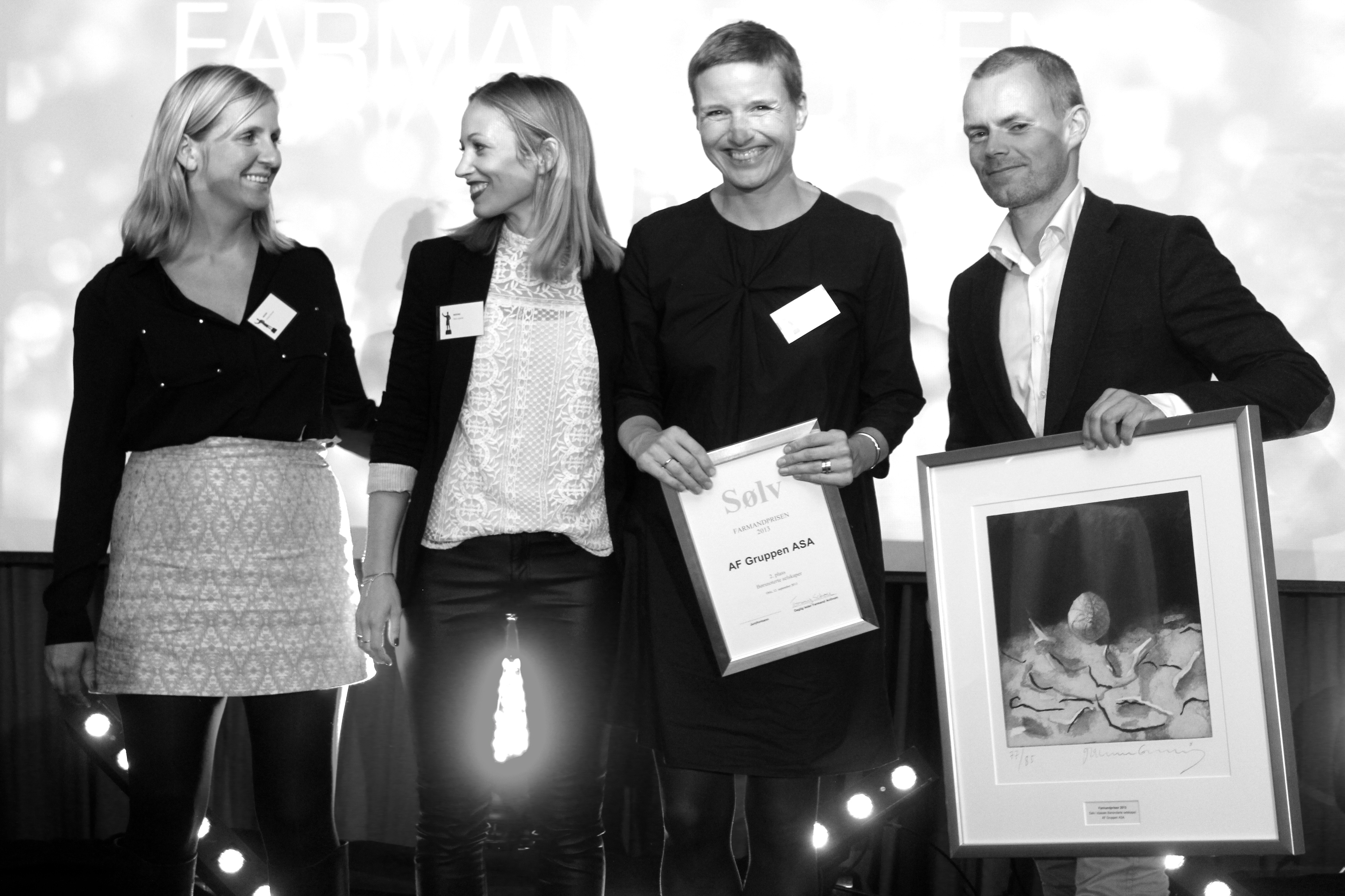 Farmandprisen Beste Årsrapport 2013 - Børsnoterte selskaper nr 2: AF Gruppen