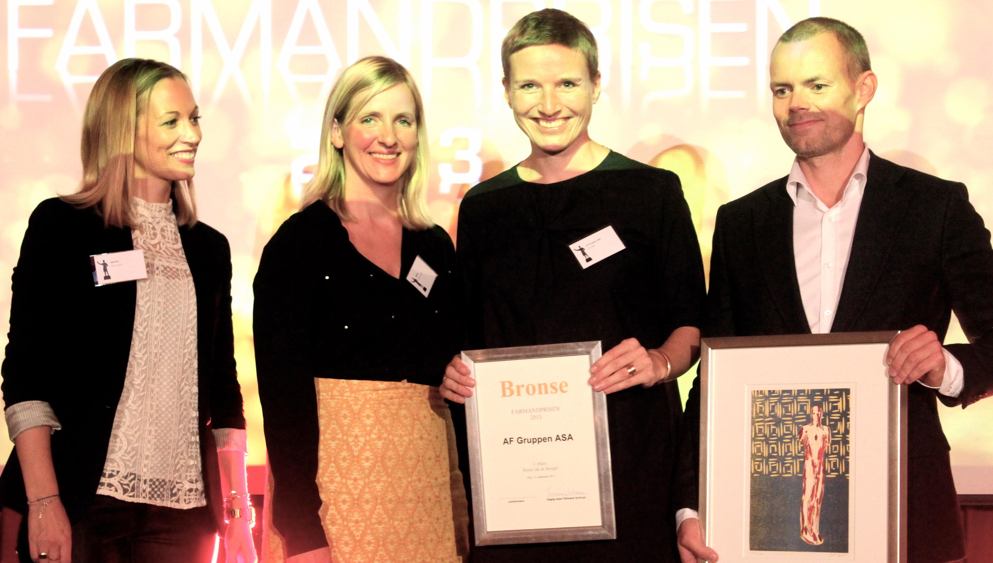 Farmandprisen Beste Årsrapport 2013 - Beste Ide & design nr 3: AF Gruppen