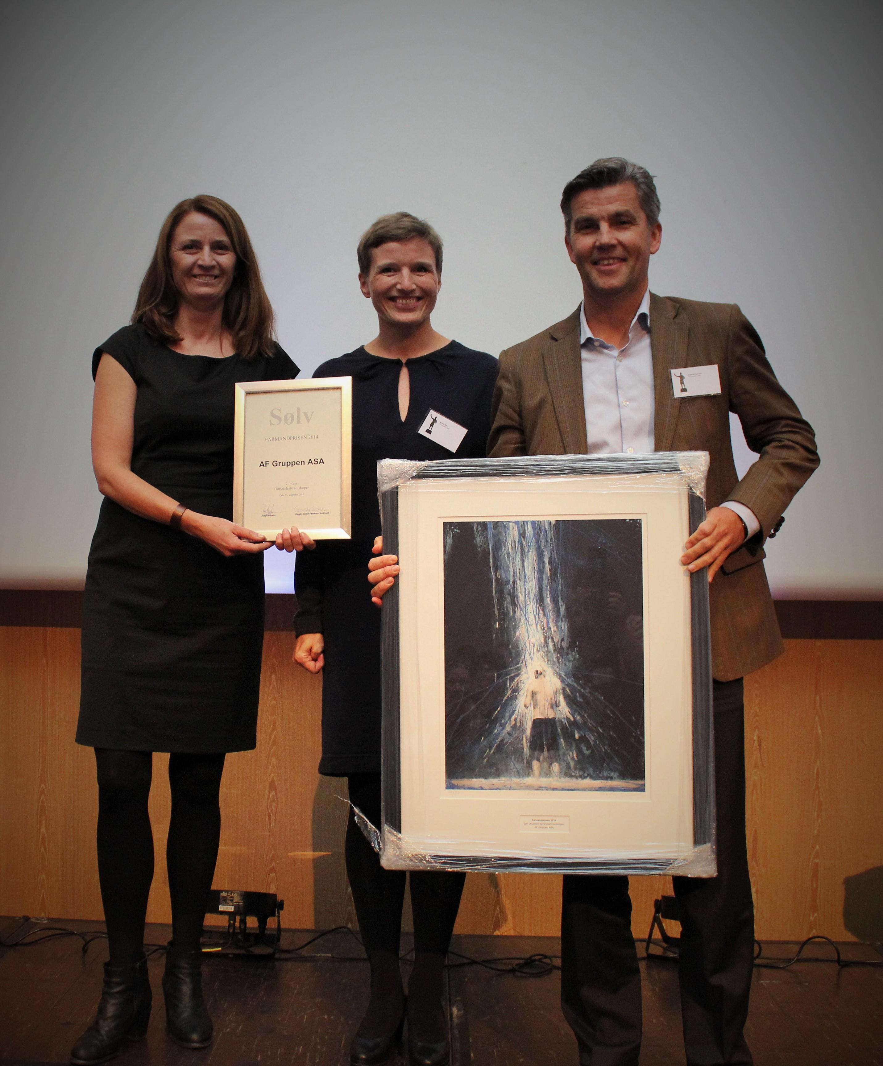 Farmandprisen Beste Årsrapport 2014 - Børsnoterte selskaper nr 2: AF Gruppen ASA