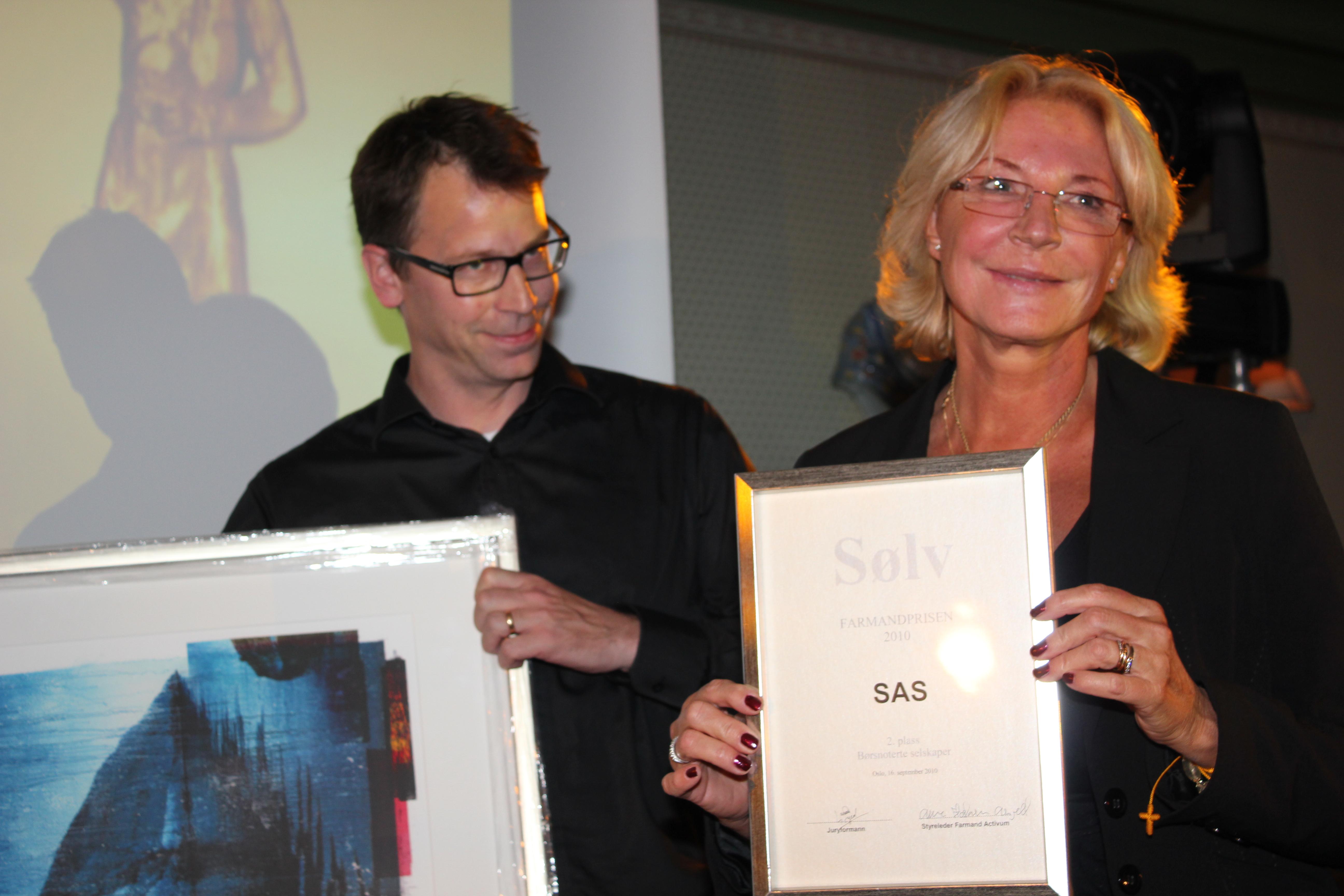 SAS - 2. plass Børsnoterte selskaper