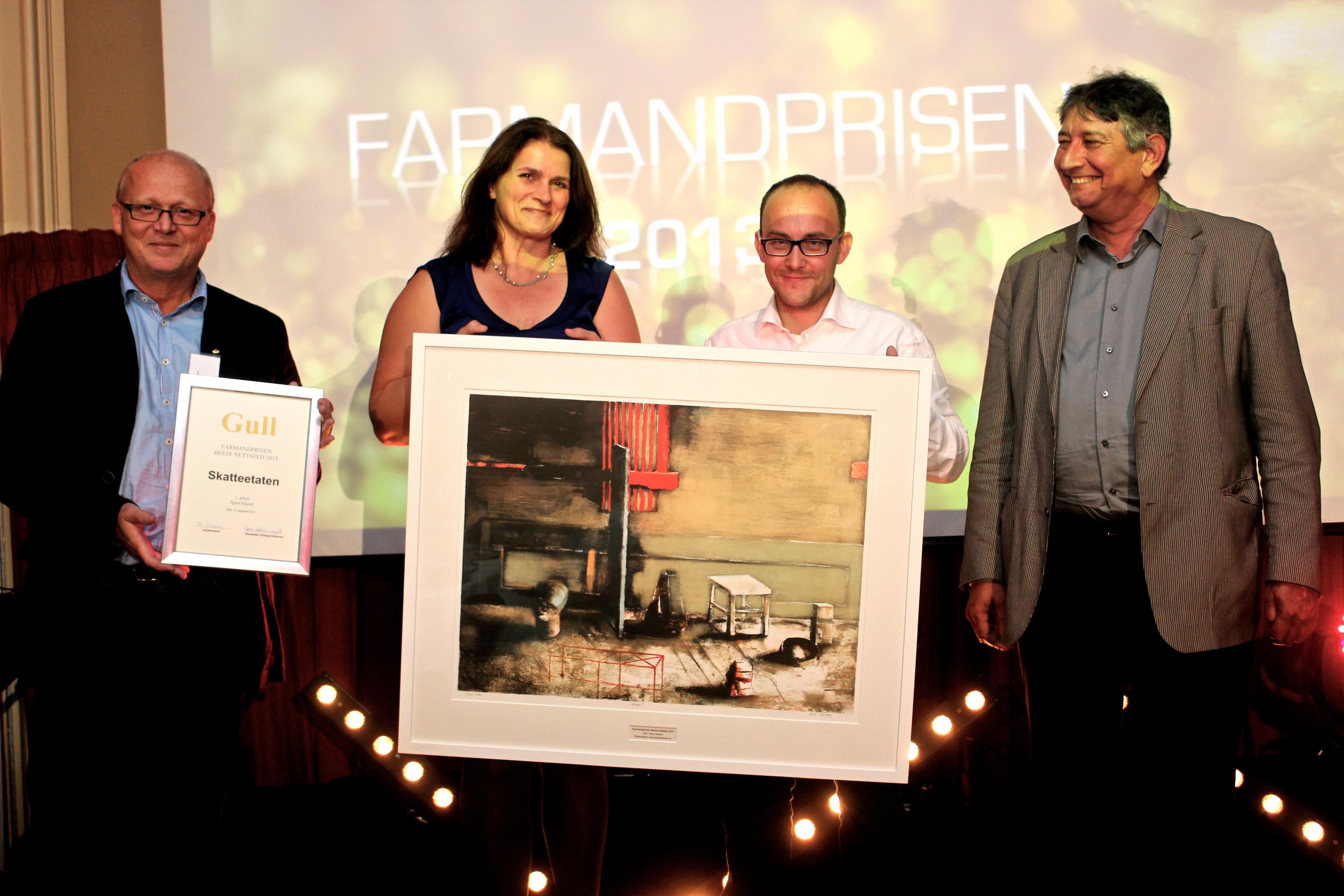 Farmandprisen Beste nettted 2013 - Åpen klasse nr 1: Skatteetaten