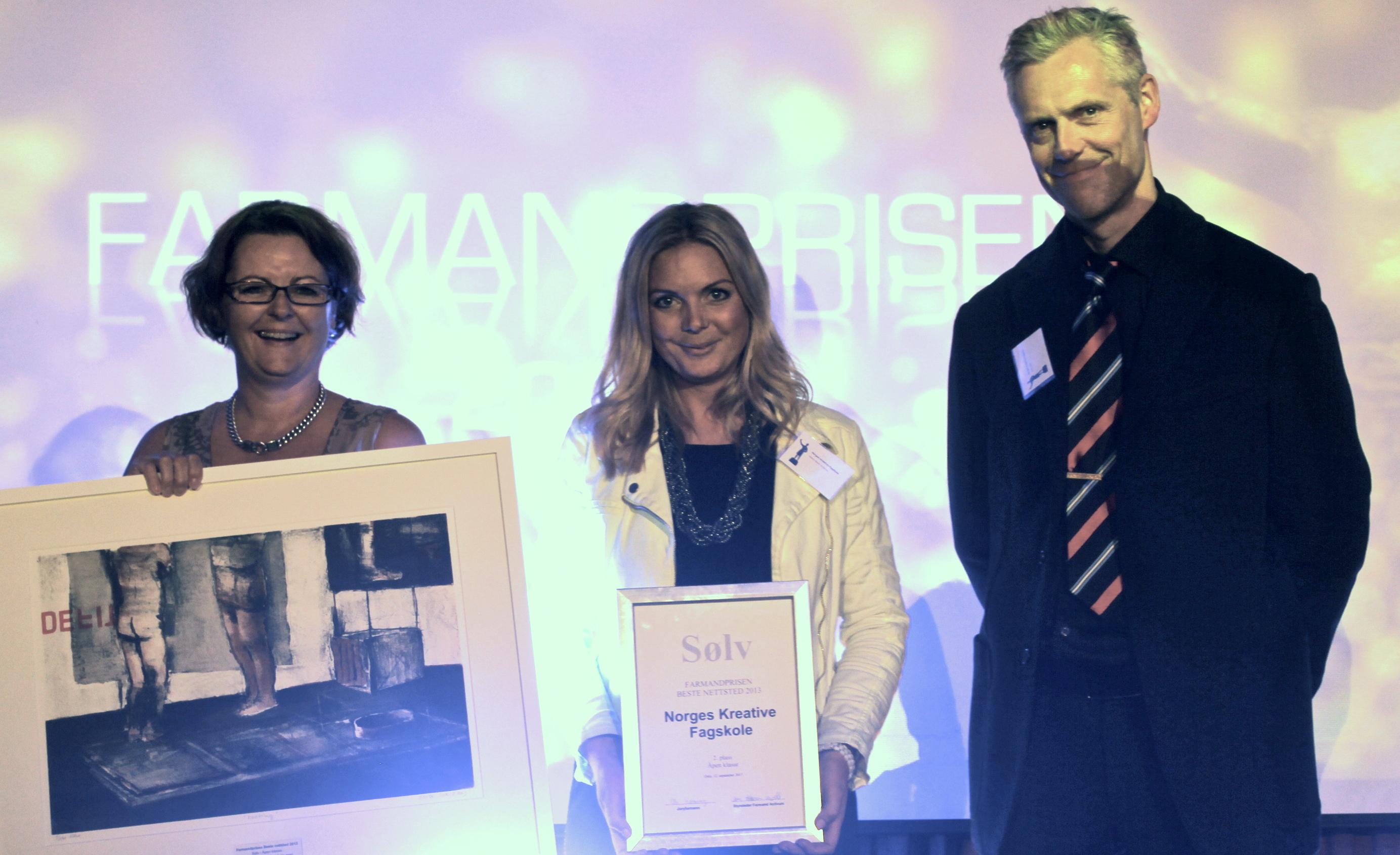 Farmandprisen Beste nettted 2013 - Åpen klasse nr 2: Norges Kreative Fagskole