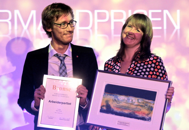 Farmandprisen Beste nettted 2013 - Åpen klasse nr 3: Arbeiderpartiet