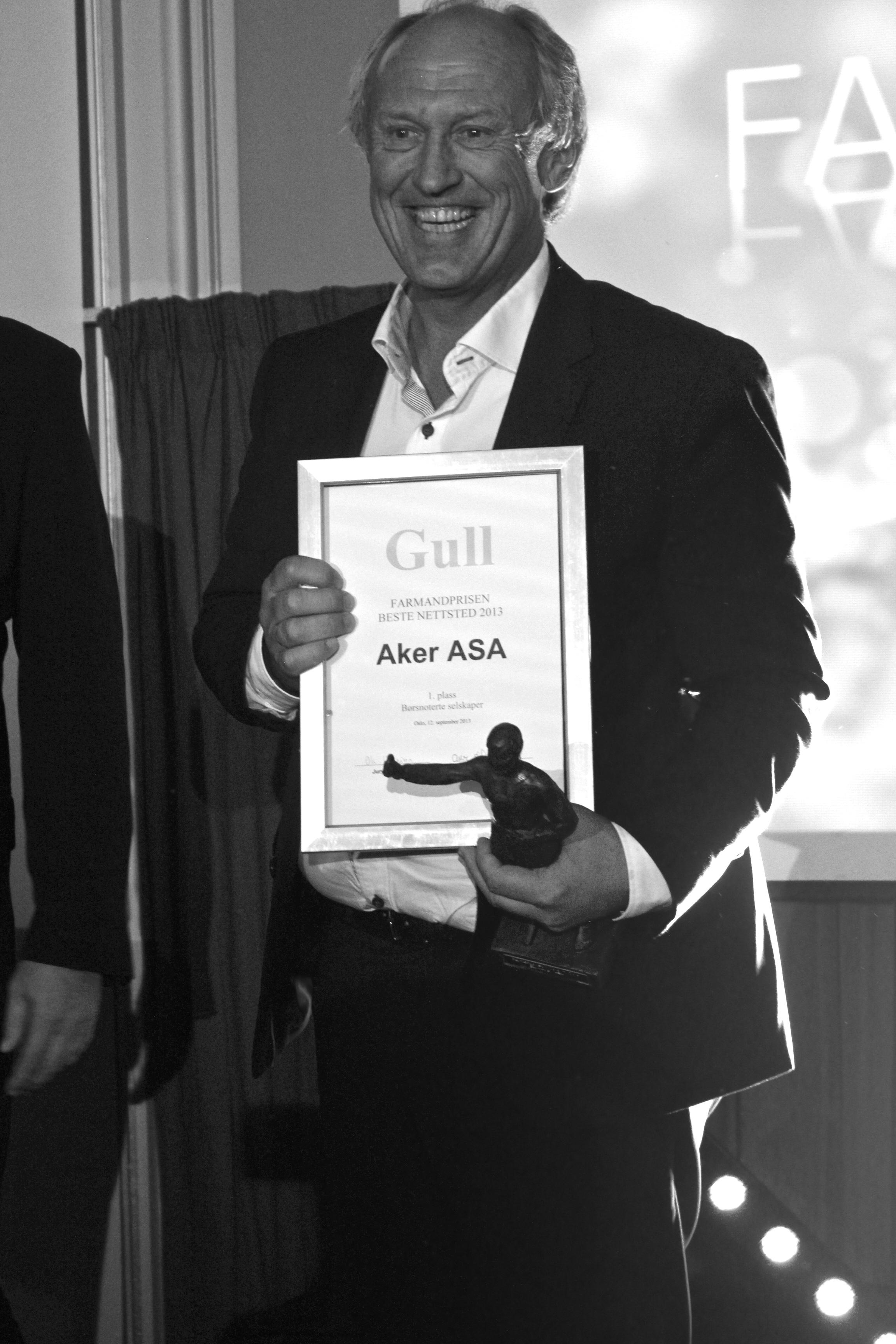 Farmandprisen Beste nettted 2013 - Børsnoterte selskaper nr 1: Aker ASA