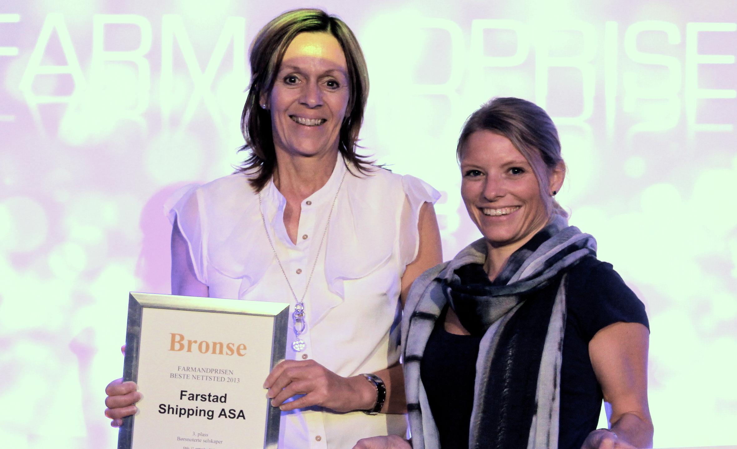 Farmandprisen Beste nettted 2013 - Børsnoterte selskaper nr 3: Farstad Shipping