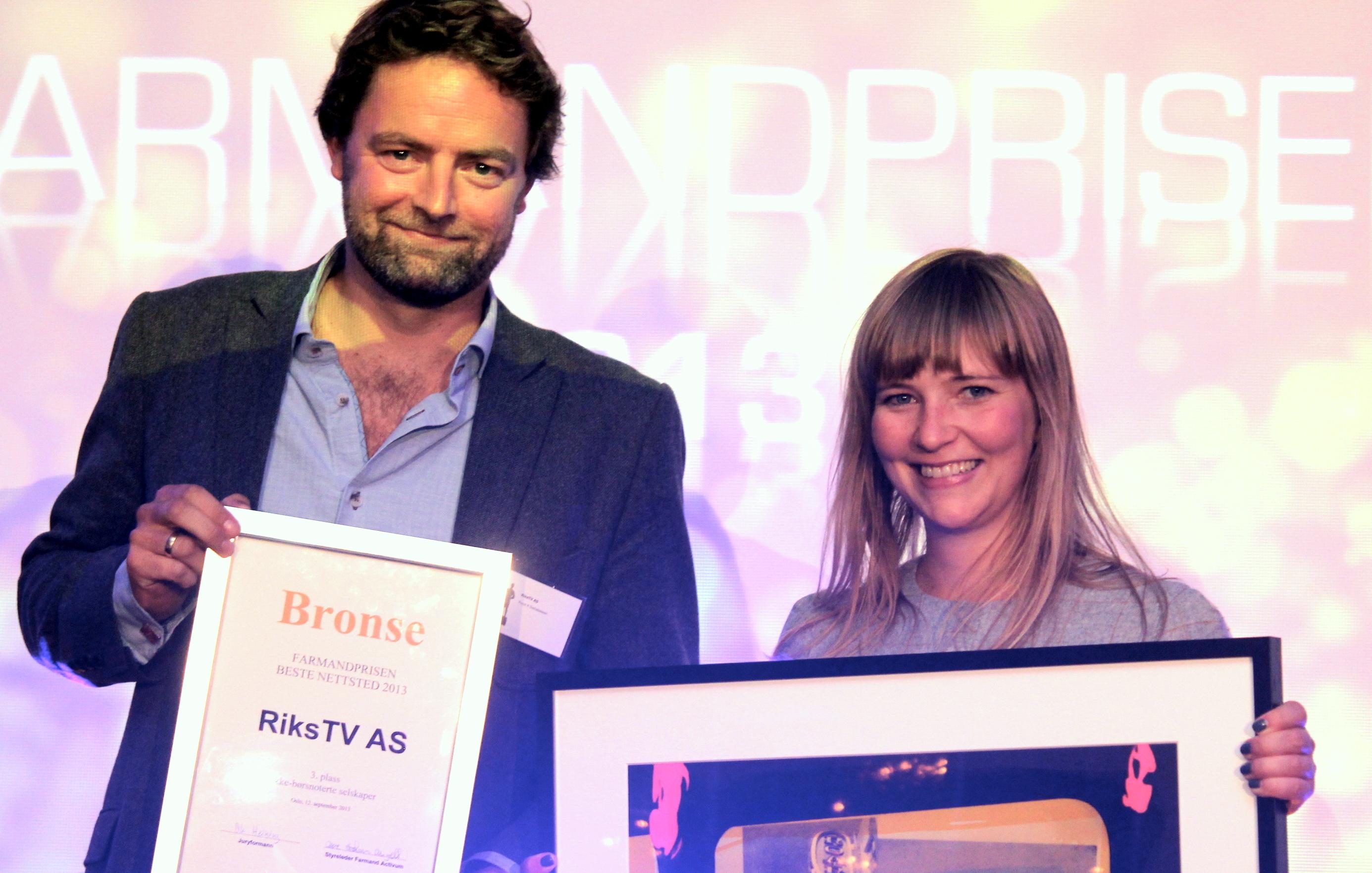 Farmandprisen Beste nettted 2013 - Ikke børsnoterte selskaper nr 3: RiksTV